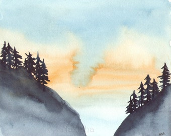 Morning has Broken - Original Watercolor Painting