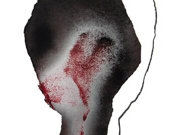 Abstract Man, Black Minimal Art Print, Simple Figurative Wall Art