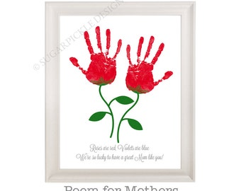 Gift for Mom, Mom's Birthday Gift, Mother's Day gift, Handprint, Kids gift to a Mother, Kids gift to mom idea