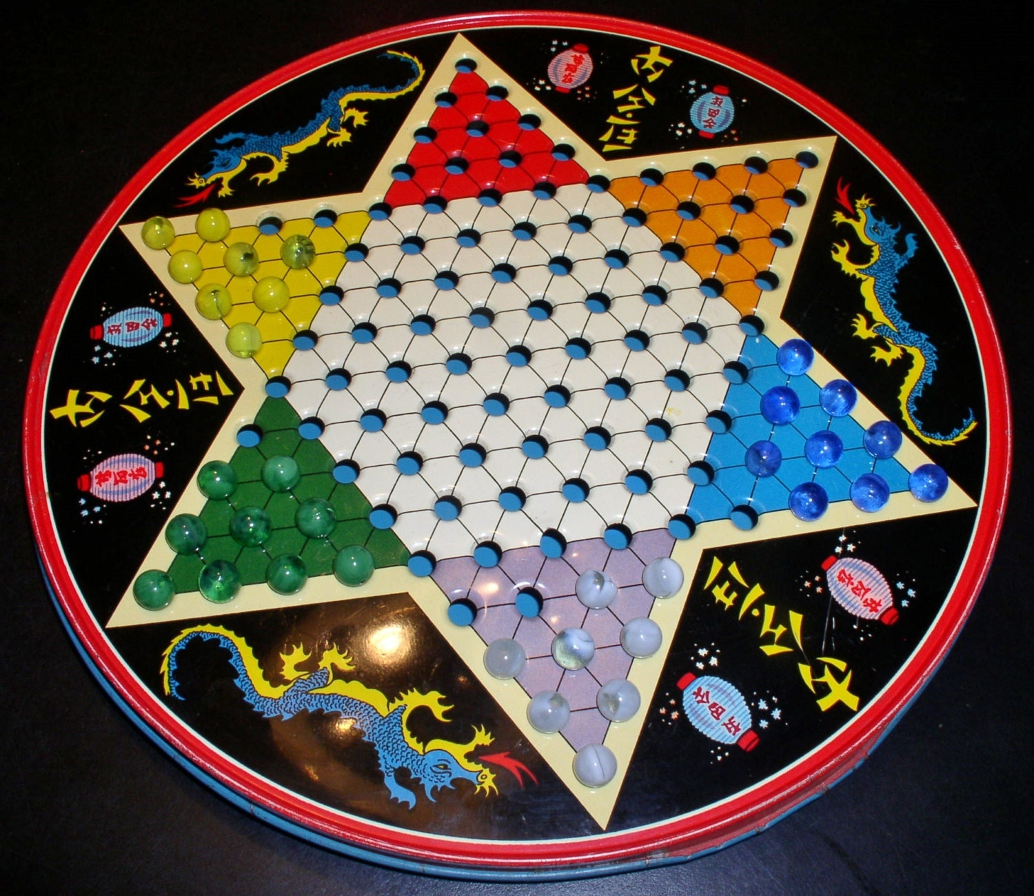 1950s Chinese Checkers Amp Checkerboard Tin By Ohio Art Co