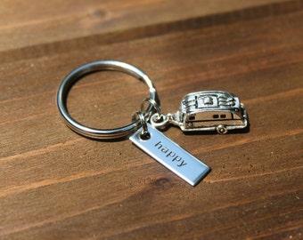 happy [camper] | keychain