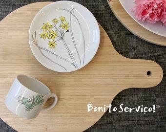 Spring tea cup - porcelain handpainted