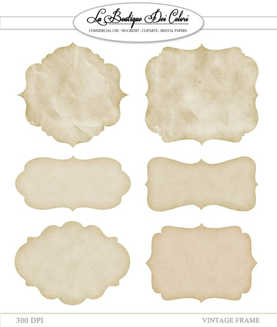 clip art vintage papier cadres tiquettes tiquettes cadres. Black Bedroom Furniture Sets. Home Design Ideas
