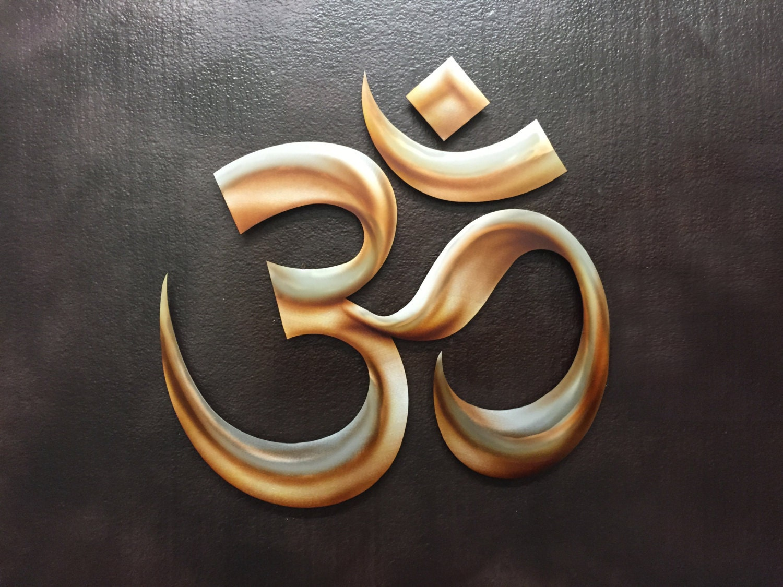 3d Metal Om Symbol Wall Art Metal Art Yoga Art By