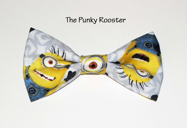 minion bow tie clip on bow tie bow tie