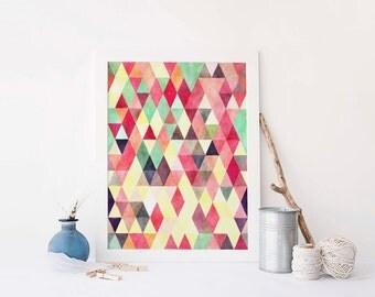Abstract Art Print, Trina, Instant Download, Triangle Art Print, Geometric Art Print, Modern Printable, Digital Abstract Art, Printable Art