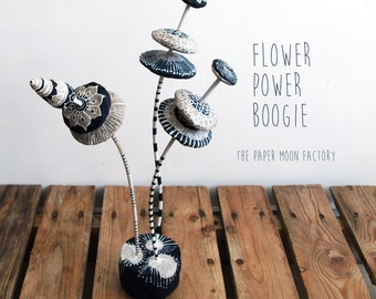 Flower Power Boogie | Handmade Paper Mache Object | SALE