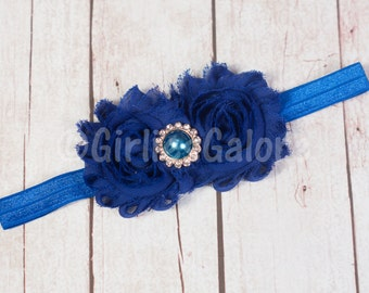 Royal Blue Baby headband,Baby headbands,Royal shabby headband,Royal Blue headband,Blue Birthday headband,Easter Headband,baby girl headband.