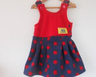 Hot-Totz Fleece Pinafore Dress