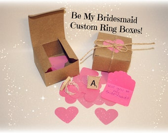 Bridesmaid Box, Be My Bridesmaid Box, Be My Bridesmaid, Be My Maid of Honor, Be My Flower Girl, Bridal Party, Wedding Favors, Wedding Party