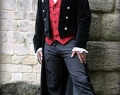 Man's Velvet 'Pirate Style' Drop Back Coat