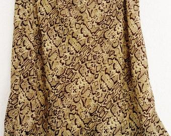 Snake Pattern, Snake Skirt, Animal Print, Summer Skirt, Elegant Skirt, Women's Skirt, Women's Clothing, Large Skirt