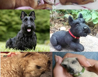 Custom Handmade Pet Portrait Sculptures! Personalized Dog, Cat, Bird... polymer clay figurines Made to Order