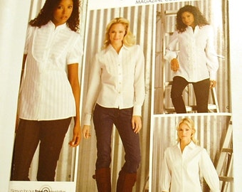 LAST CHANCE SALE - Simplicity 3684 - Misses Shirt Pattern in Two Lengths - Threads Magazine Collection - Sizes 8 to 16