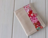 Linen and Liberty of London Tea Bag Sachet Travel Wallet Pouch in Pink