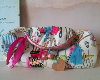 Fold Down Clutch - Envelope Clutch - Vintage Chic Clutch - Evening Clutch - Daytime Clutch - Wedding Clutch - Party Clutch - Quirky Clutch