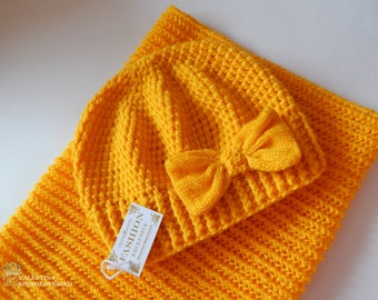 Crochet hat and scarf. Set! Crochet kids beanies. Crochet hats for kids. Kids  hat