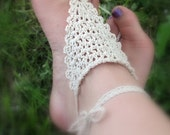 Crochet Nude Barefoot Sandals Delicate Boho Sandals, Foot Jewelry, Anklet, Wedding Accessories, Beach Shoes, Hippie, Yoga, Bellydancer