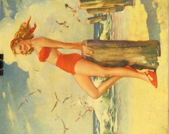 Original Vintage Swimsuit Pinup