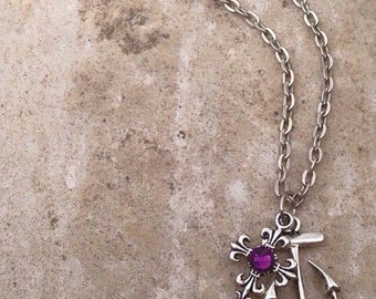 Cross and Anchor Necklace