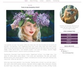 Blogger Template - Simple Floral Watercolor Blog Design - Blog Theme - Blog Layout - Blogspot Template