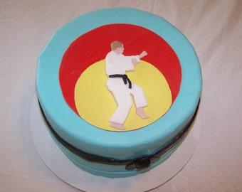 Judo Theme Cake Topper