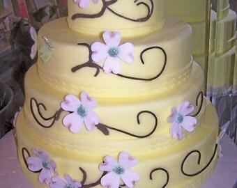Dogwood Flowers Cake Topper