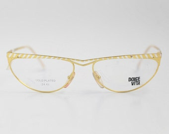 Gold plated eyeglass Etsy