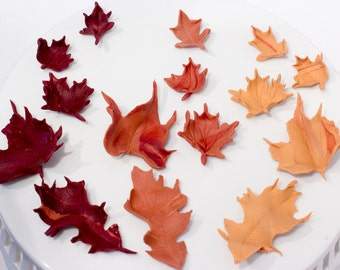 Fondant Fall leaves - Ready to ship in 1-2 weeks