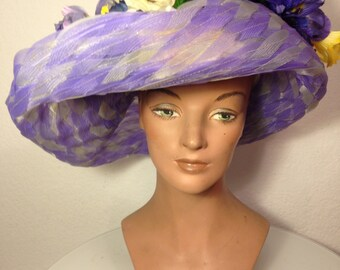 FREE  SHIPPING   Large  Derby  Hat