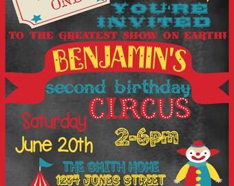 Circus Birthday Invitation