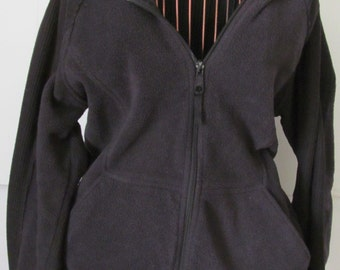 Black Columbia Fleece Jacket sz L Lightweight warm coat Columbia Jacket sz L Womens Columbia Hoodie
