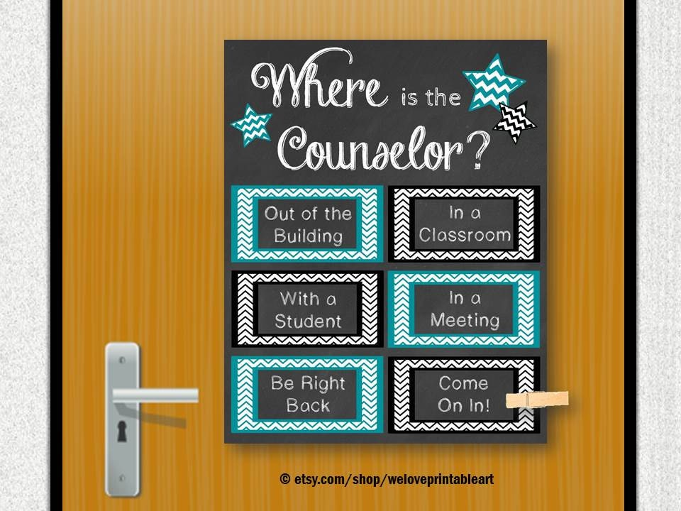 School Counselor Gifts Counseling Office By Weloveprintableart
