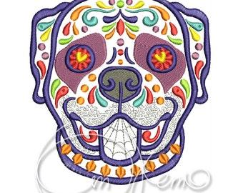 MACHINE EMBROIDERY DESIGN - Calavera Rottweiler, Dia de los muertos, Mexican design, Halloween design, calavera dog, Day of the dead