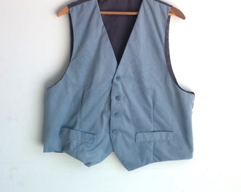 Vintage, Baby Blue and Grey, Vest