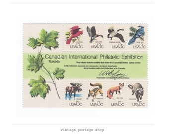 1978 Unused Vintage US Postage Stamps - Canadian Wildlife - Pack of 8 - No. 1757