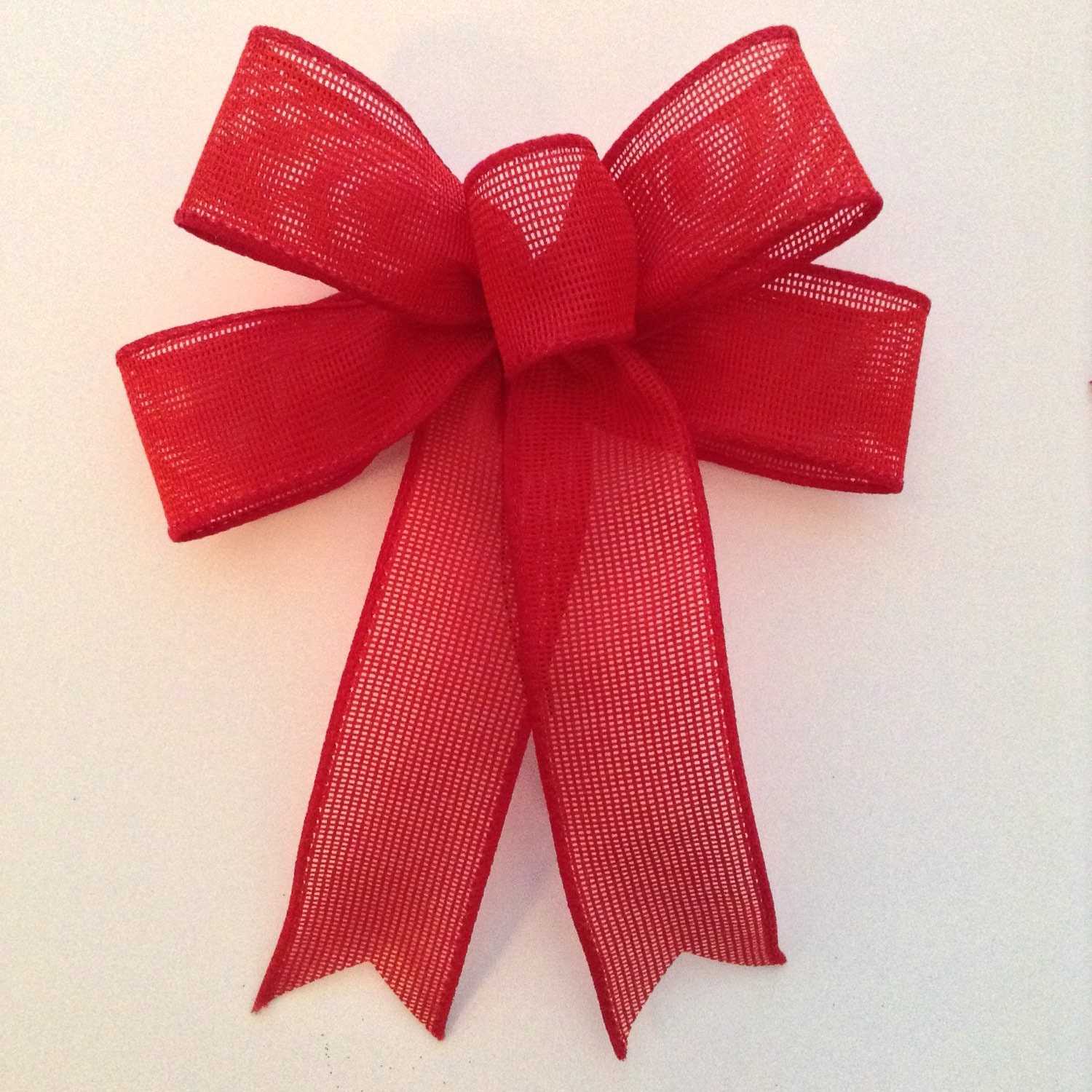burlap red bows christmas decorative bows small red burlap. Black Bedroom Furniture Sets. Home Design Ideas