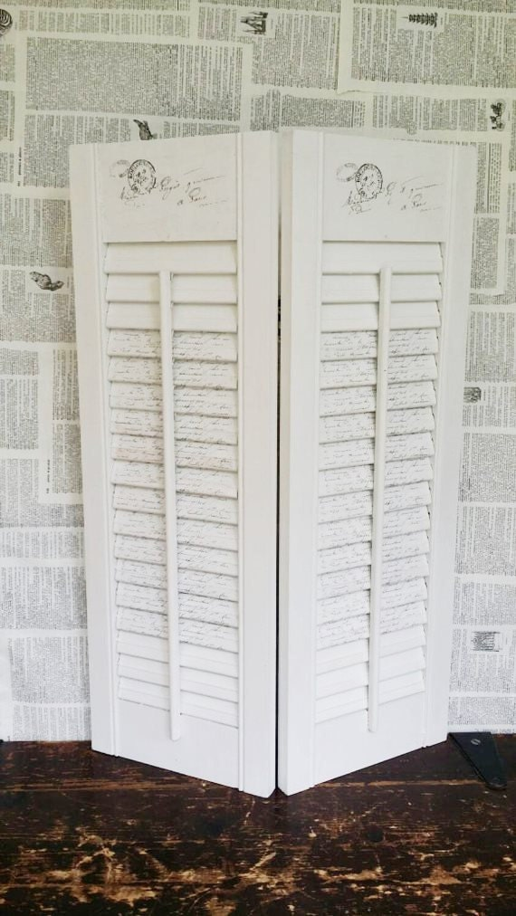 French Country White Shutters White Wood By
