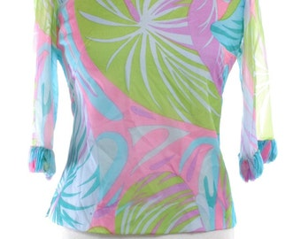 Vintage 1960's Psychedelic Blouse 10