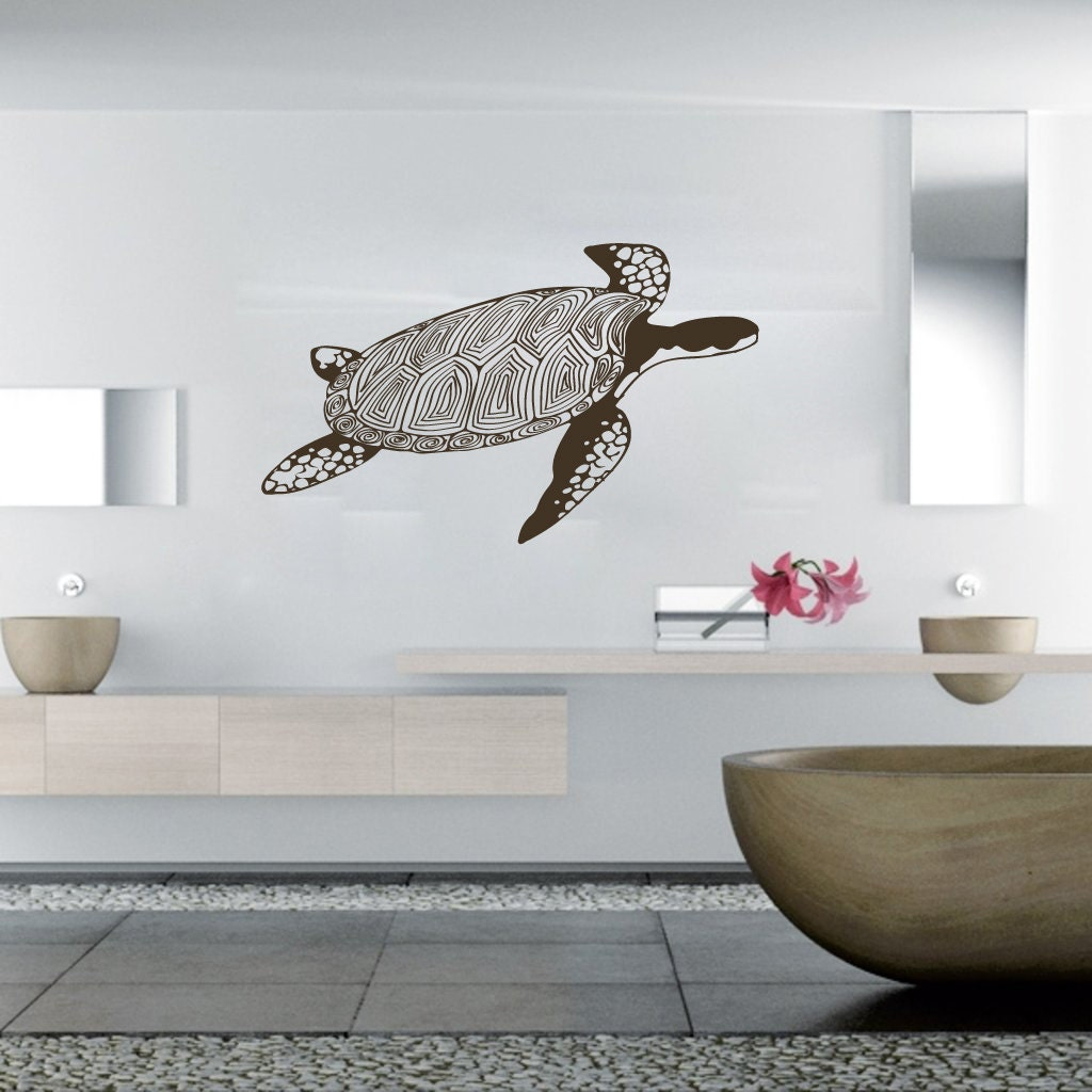 Wall Decals Tortoise Decal Vinyl Sticker Decal Art Home Decor