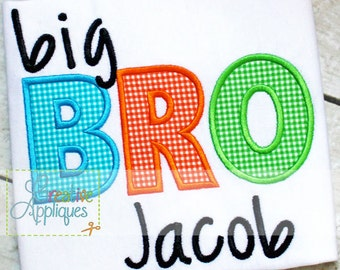 4 SIZES Bro Brother Digital Machine Embroidery Applique Design 4 Sizes