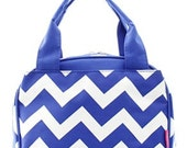 Monogrammed Chevron Lunch box/Personalized lunch box
