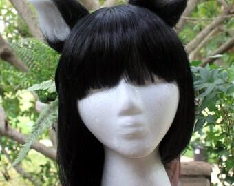 Black and White Cat Ear Headband