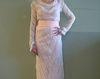 Victorian Lace Blouse and Skirt