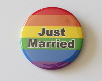 just married, same sex wedding,rainbow wedding,