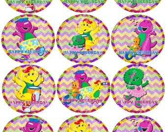 Barney Printable Stickers