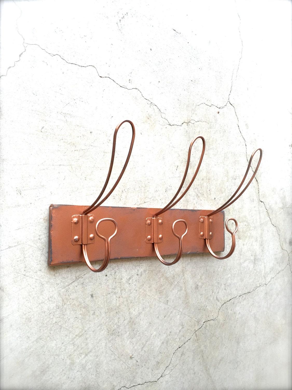 copper coat rack coat hooks wall hook rack wall hooks. Black Bedroom Furniture Sets. Home Design Ideas