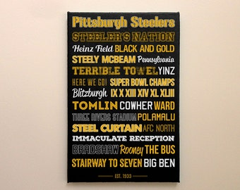 Pittsburgh Steelers  - Canvas or Poster