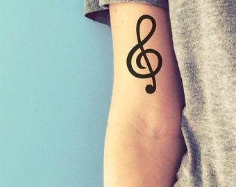 treble clef temporary tattoo music tattoo valentines day gift fake tattoo gift for musician composer tattoo inspirational tattoo happytatts