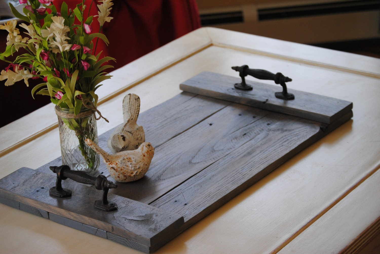 Wooden tray serving platter centerpiece home decor